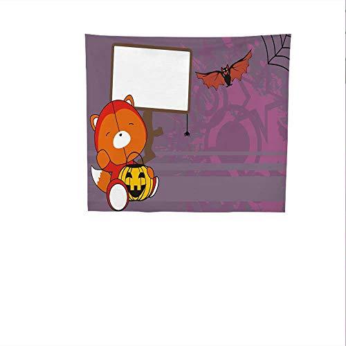 Sunset glow Simple Tapestry Baby.jpg Fox.jpg Demon.jpg Costume.jpg Cartoon.jpg Halloween.jpg Background.jpg Big Tapestry 55W x 55L Inch