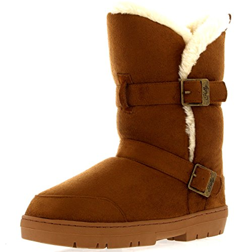 Twin Invierno Buckle Impermeable Rain Short Lined Nieve Marr Fur Mujer Botas Rpxq7AwCC