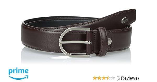 75abfe390 Lacoste Men s Premium Leather Metal Croc Belt