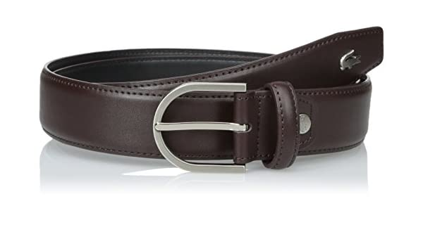 13ddbd609cbc30 Lacoste Men s Premium Smooth Leather Belt with Metal Croc