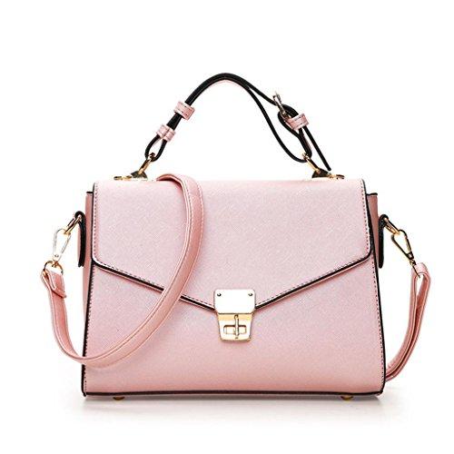 pink à à carré Sweet Multi Main Mesdames Slant Sac bandoulière SHOUTIBAO Sac Compartiment Unique Mode Petit Sac Lady TxRgFpqw