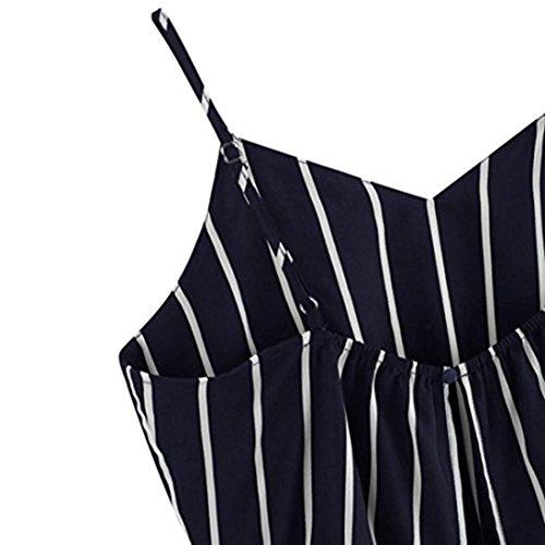 Blanche V Rayé Camisole Et Court Dos Cravate Chemisier Fille Femme Cou Auto Crop Angelof Débardeur Blouse Marine Noir qA6EwCOZx