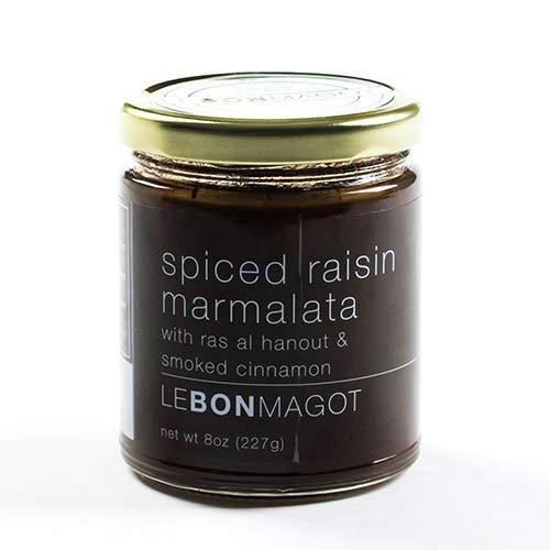 Le Bon Magot Chutney & Marmalata - 8 oz - Spiced raisin marmalata with ras al hanout (8 ounce)