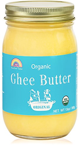 Grass-Fed Ghee Clarified Butter,Organic,Gluten-Free,Unsalted,USDA Certified by Rainbow Farms - Glass Jar (1pack)
