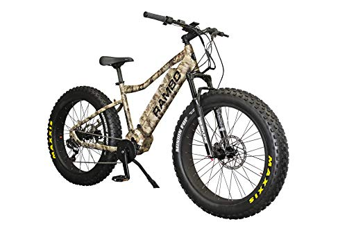 Rambo 2019 Xtreme Performance True Timber Viper Western Camo 1000W Electric Bicycle- Max Speed 28 MPH, Hydraulic Disc Brakes, 11- Speed Gear Ratio with 48V/14.5AH Battery