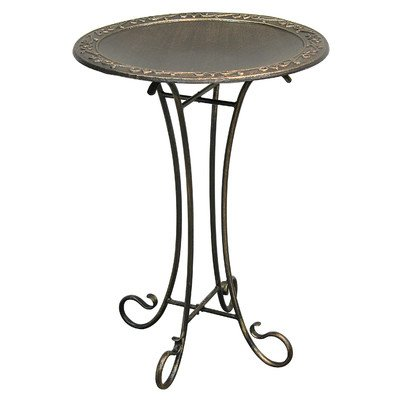 Roman Birdbath with Steel Stand by Innova Hearth and Home