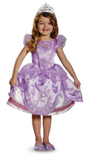 [Disney Sofia The First Sofia Deluxe Girls Costume, Medium/7-8] (Deluxe Sofia Princess Costumes)