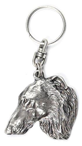 Borzoi, Russian Wolfhound, dog keyring, key holder, limited edition, ArtDog