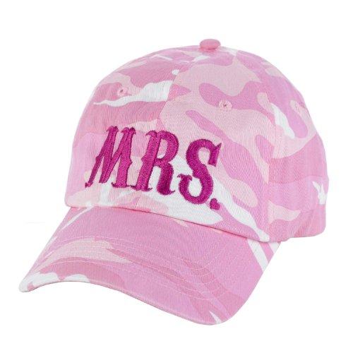 Hortense B Hewitt Bride's Pink Camouflage Cap, Mrs.