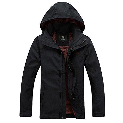 Black Cotone Casual Con Design App Uomo Cappuccio Giacca Invernale Sale15830 Outdoor Giacche In Per fOwAwqC