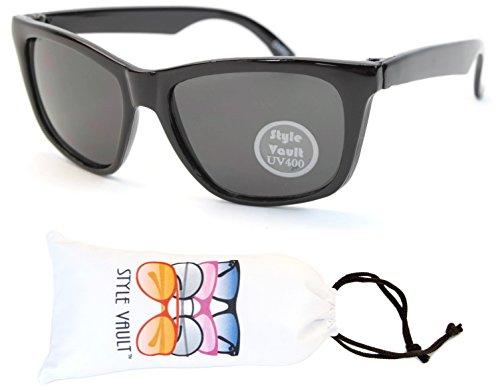 KD3069-vp Style Vault Kids(0-12 months) Cateye Sunglasses (B2489F Black, - Months Baby 12 6 Sunglasses