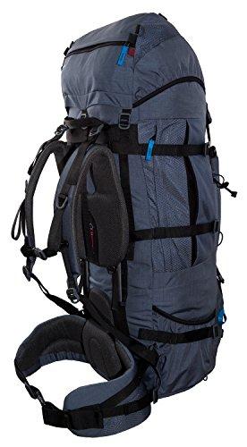Mochila de Trekking 100L + 20L TASHEV MOUNT 120 litros - Mochila con cubierta impermeable gris / azul