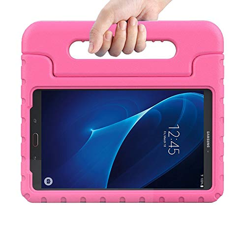 (eTopxizu Kids Case for Samsung Galaxy Tab A 7.0 inch,EVA ShockProof Case Light Weight Kids Case Super Protection Cover Handle Stand for Kids Children for Samsung Galaxy TabA 7-inch Tablet(Pink))