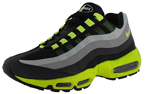 Nike Heren Air Max 95 Geen Naai Loopschoenen Zwart / Volt / Dark Charcoal / Midnight Fog