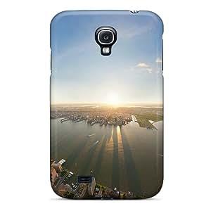 Galaxy High Quality Tpu Case/ New York City Sunset RyIBkgQ5050YhYoj Case Cover For Galaxy S4
