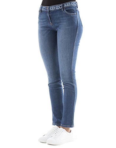 Kenzo Coton F762PA2506FG76 Bleu Femme Jeans ratwxqrC
