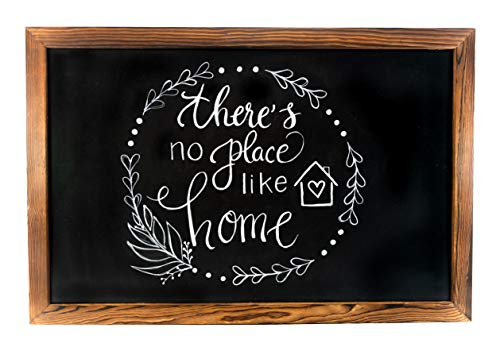 Large 20″ x 30″ Rustic Torched Wooden Framed Magnetic Chalkboard Sign: Great Decor Classroom, Wedding, Menus, Kitchen, School, Office, etc. Use Chalk Markers Chalk. Easily Erasable For Sale