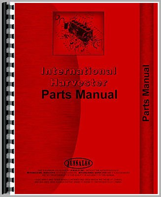 New International Harvester TD7E Crawler Chassis Only Parts Manual