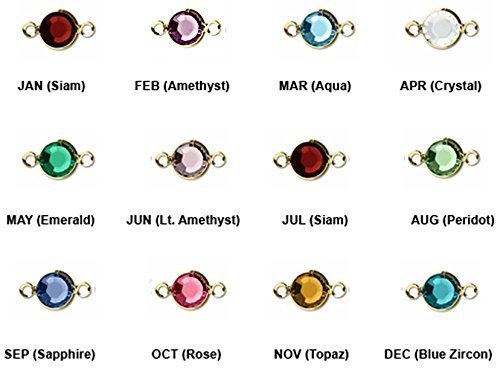 - 12pc Set of Genuine Swarovski Birthstone Channel Connectors or Links Gold Plated