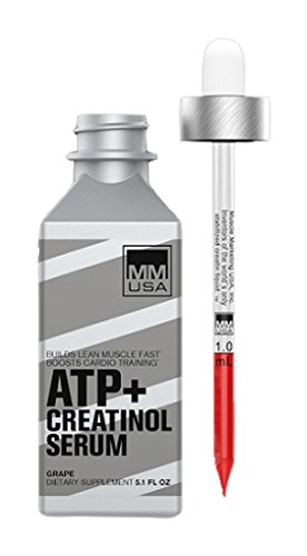 MMUSA ATP Creatine Serum - Liquid Glucosamine Creatine Drops | Pre-Workout Energy with Amino Acids |High Absorption for Increased WorkoutStamina | Premium Bodybuilding Supplement for Men & Women