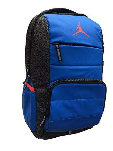 ab7fb96487f Galleon - Nike Air Jordan Jumpman Laptop Backpack Elephant (U4U) / Game  Royal Blue/Orange Soar