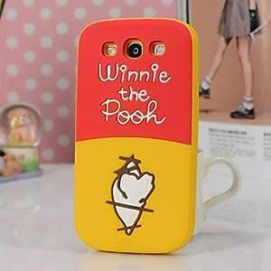 HC-Cute Bears Tail Caja del teléfono del silicón 3D para Samsung i9300 Galaxy S3