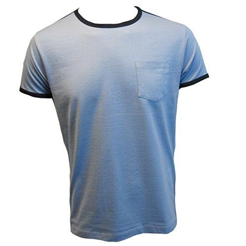 Relco Mens Ringer 2 T-Shirt Sky Blue M ()