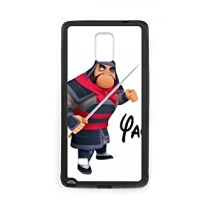 Samsung Galaxy Note 4 Phone Case Cover Black Disney Mulan Character Yao 07 EUA15965136 Phone Case For Women Custom