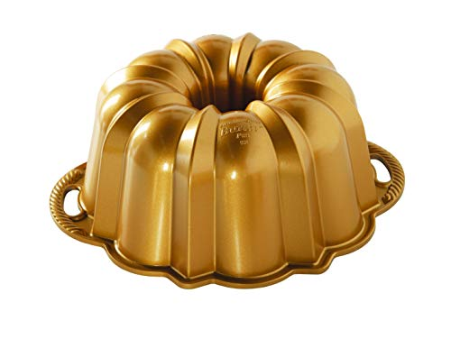 Nordic Ware 50077 Anniversary Bundt 12 Cup, Gold