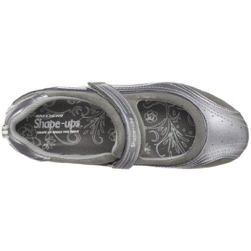 Skechers Dames Shape Ups Hyper Blast Mary Jane Sneaker Gun Metal
