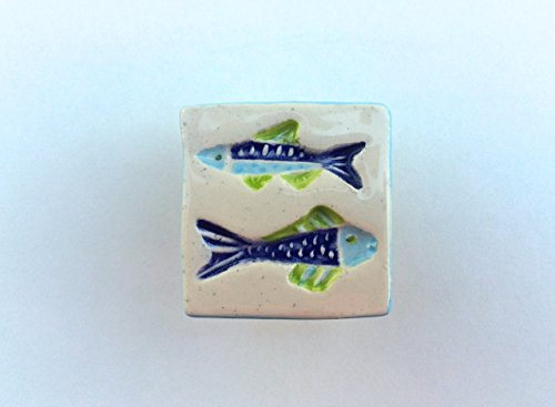 Swimming Fish Knob, Fish Drawer Pull, Fish Handle, Furniture Knob, Cabinet (Fish Cabinet)