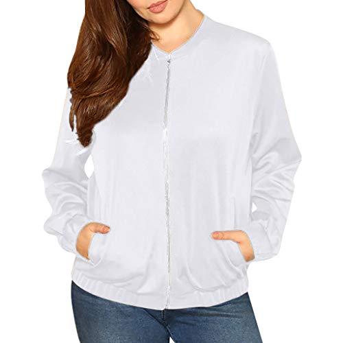 iHHAPY Womens Baseball Jacket Bomber Jacket Short Jacket Casual Jacket Lace Patchwork Flight Jacket Plus Size