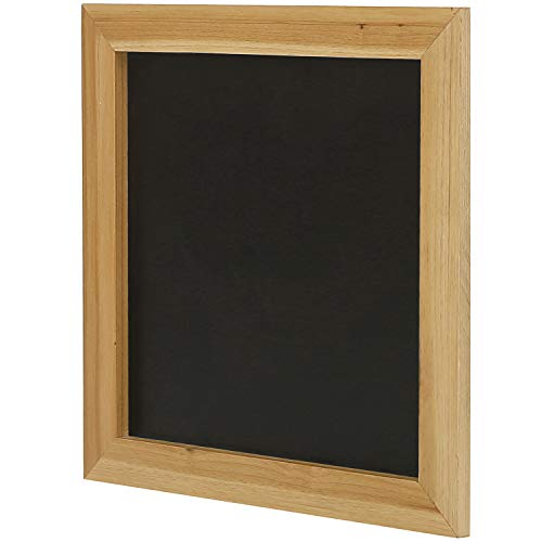 MyGift 12 x 12 Square Natural Wood Framed Wall Mounted Erasable Chalkboard Message Board Sign (Wood Memo Board Natural)