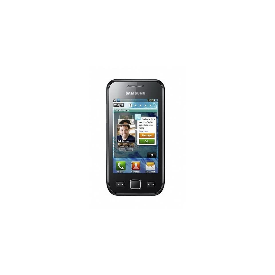 Samsung S5253 Wave 525 Unlocked GSM Cell Phone with Touchscreen, 3MP Camera, Wi Fi, AGPS and Bluetooth  International Version with no US Warranty (Metallic Black)