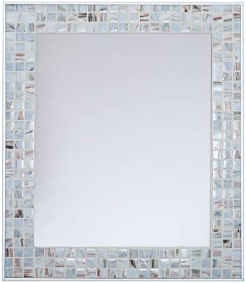 Ivory Beauty Mosaic Mirror 24 x 30