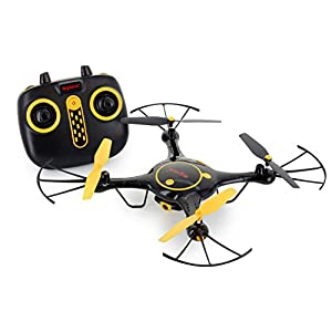Tenergy Syma X5UW Wifi FPV RC Camera Drone, HD 720P Camera with Smart Phone App, Headless Quadcopter Drone for Beginners, 2 Batteries Included (Exclusive Black Yellow Color)