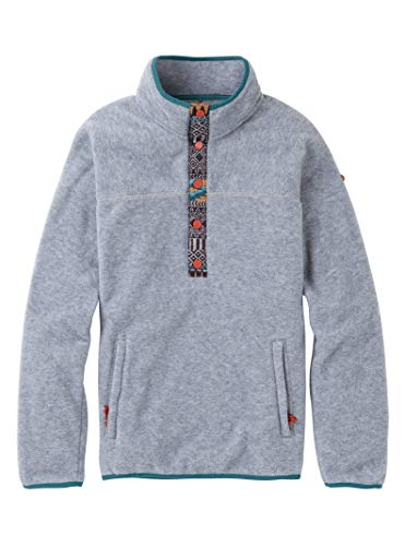 Burton Sports_Apparel Hearth Fleece Pullover, Gray Heather W19, X-Small