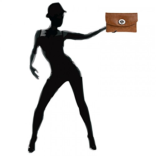 CASPAR Envelope Women Cognac CASPAR TA339 Clutch Women Envelope TA339 SnqOZ1US