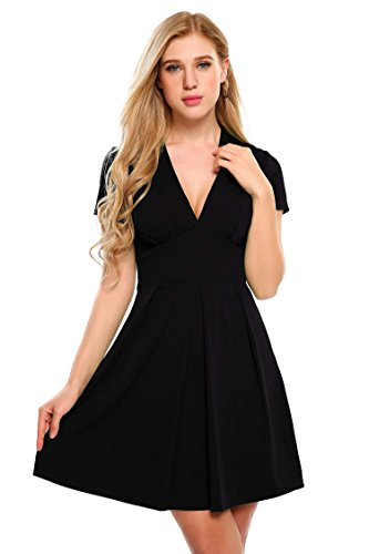 V-Neck Empire Waist Dress - 7