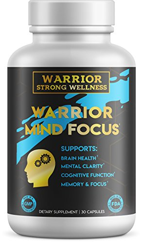 Warrior Mind Focus-Brain Health Capsules with Nootropic Focus Formula for Mental Clarity, Memory, Cognitive Function – 30 Capsules by Warrior Strong Wellness by Warrior Strong Wellness