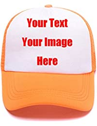 36929dd69f6 Custom Snapback Trucker Hats with Your Saying Unisex Funny Breathable Mesh  Sports Baseball Caps Mom Dad