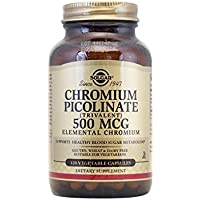 Solgar Chromium Picolinate 500 mcg, 120 Vegetable Capsules