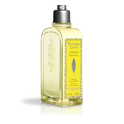 L'Occitane Crisp Citrus Shower Gel Enriched With Grapefruit Extract and Organic Verbena, 8.4 Fl. oz.