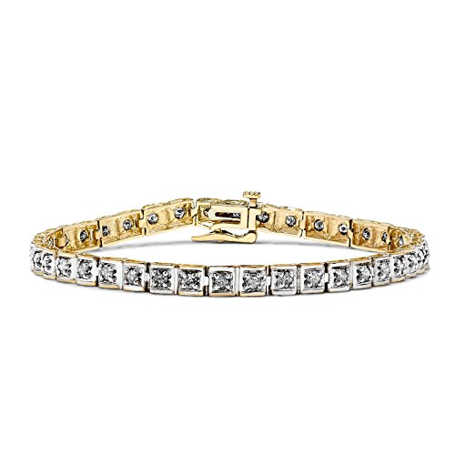 2 CT Diamond Bracelet in 10k White and Yellow Gold(2.00ct)