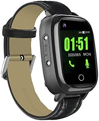 Elderly GPS Smart Watch, 4G Heart Rate Blood Pressure Monitoring Smartwatch, Video Call Step Counter Geo-Fence SOS Voice Messages IP67 Waterproof Fitness Tracker Watch for Dementia Alzheimer's