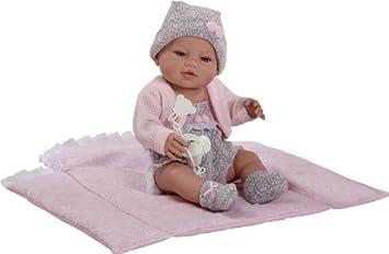 Berbesa - Muñeco bebé recién nacido con cambiador, 42 cm (5103)