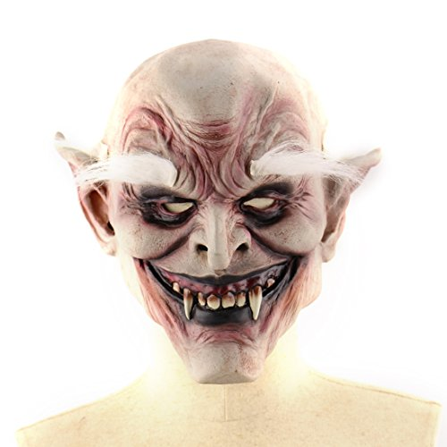 Vivi Do Halloween Horror White Eyebrow Demon Vampire Face Mask