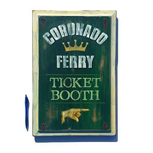 Replica Ticket - Coronado Ferry ticket booth sign replica