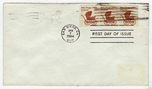 - United States Transportation - Baby Buggy Postage Stamp (Coil Strip of Three) Original First Day Cover # 1902