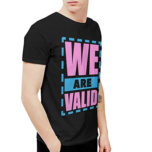 Shuaihong We are Valid Mens Comfortable T-Shirt XL Black